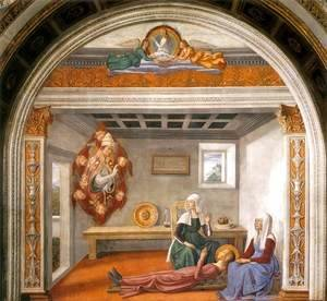 Domenico Ghirlandaio - Announcement of Death to St Fina