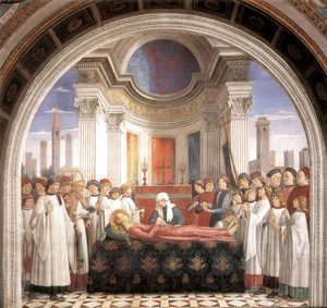 Domenico Ghirlandaio - Obsequies of St Fina