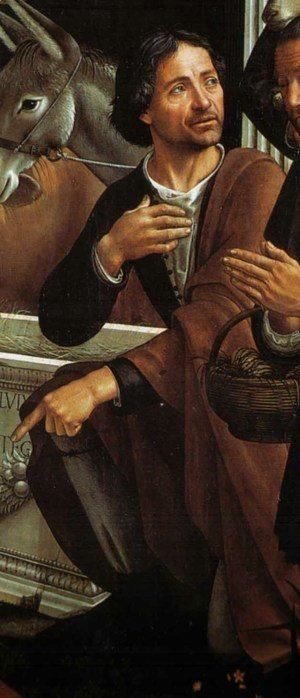 Domenico Ghirlandaio - Adoration of the Shepherds (detail 3)