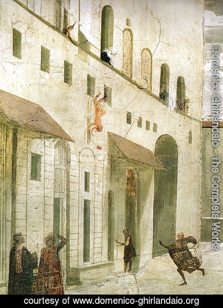 Domenico Ghirlandaio - St Francis cycle, Resurrection of the Boy (detail 4)