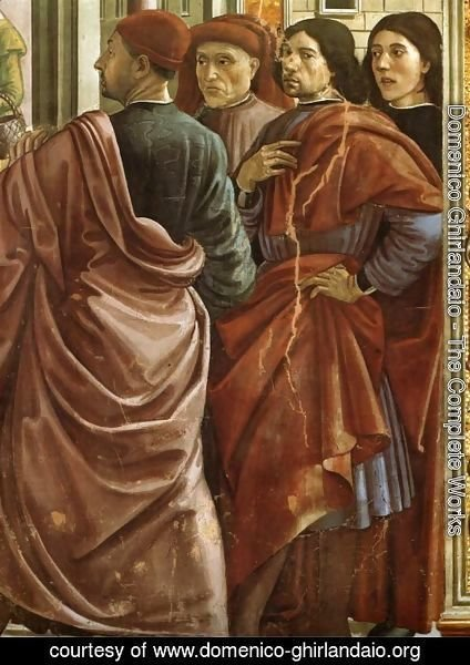Domenico Ghirlandaio - 01, Expulsion of Joachim from the Temple (Portrait of Ghirlandaio, the second from the right)