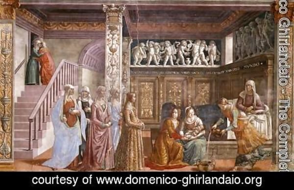 Domenico Ghirlandaio - 02, Birth of Mary