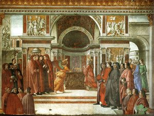 Domenico Ghirlandaio - 10, the angel's announcement to Zaccaria