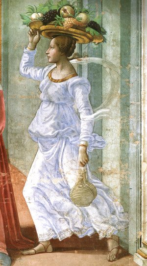 Domenico Ghirlandaio - 12, Birth of St John the Baptist (detail 1)