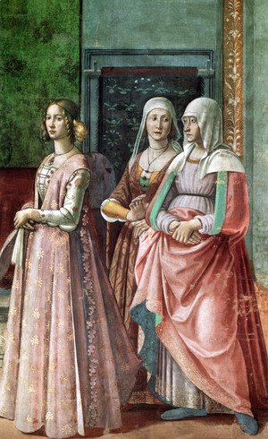 Domenico Ghirlandaio - 12, Birth of St John the Baptist (detail 2)