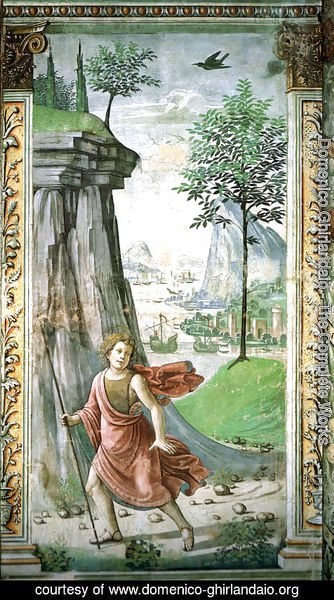 Domenico Ghirlandaio - 14, St. John the Baptist in the desert
