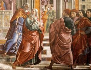 Domenico Ghirlandaio - Expulsion of Joachim from the Temple (detail)