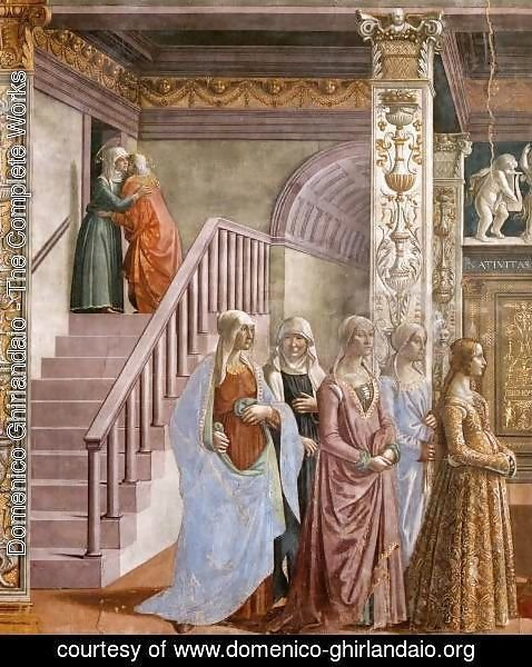 Domenico Ghirlandaio - Birth of Mary (detail) 2