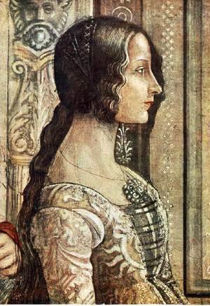 Domenico Ghirlandaio - Birth of Mary (detail) 3