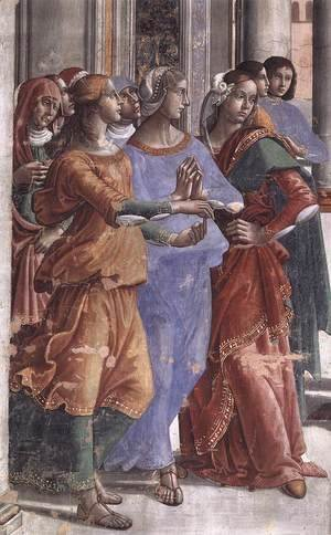 Domenico Ghirlandaio - Presentation of the Virgin at the Temple (detail)