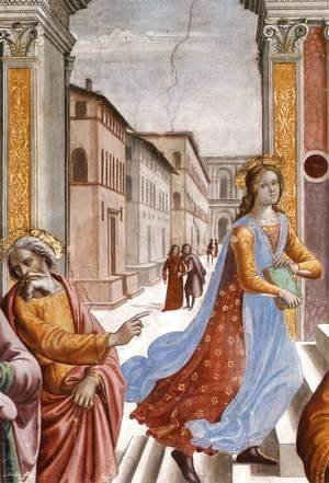 Domenico Ghirlandaio - Presentation of the Virgin at the Temple (detail) 2