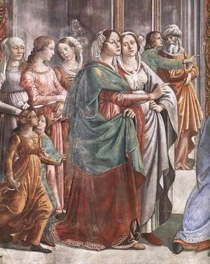 Domenico Ghirlandaio - Marriage of Mary (detail)