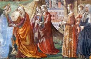 Domenico Ghirlandaio - Visitation (detail)