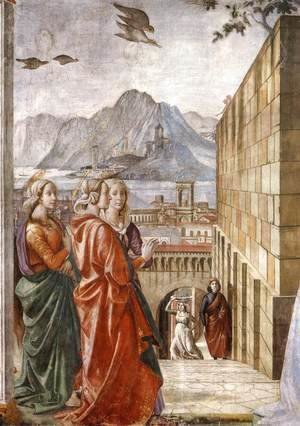 Domenico Ghirlandaio - Visitation (detail) 2