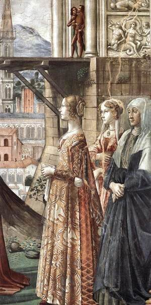 Domenico Ghirlandaio - Visitation (detail) 3