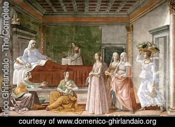 Domenico Ghirlandaio - Birth of St John the Baptist 2