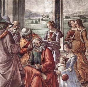 Domenico Ghirlandaio - Zacharias Writes Down the Name of his Son (detail)