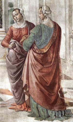 Domenico Ghirlandaio - Zacharias Writes Down the Name of his Son (detail) 2