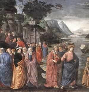Domenico Ghirlandaio - Calling Of The First Apostles (Detail) 1481