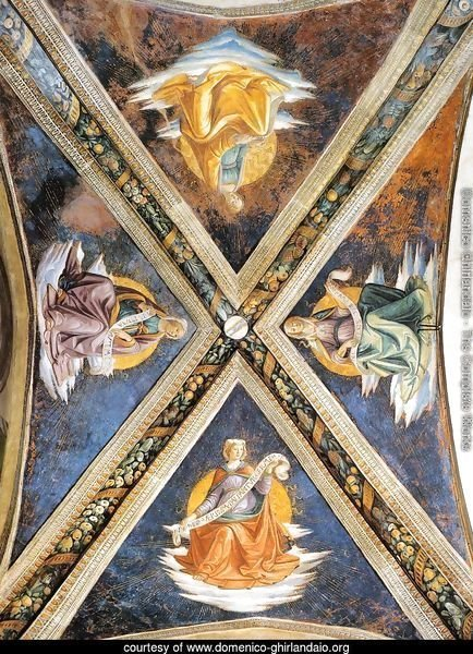 Vaulting of the Sassetti Chapel