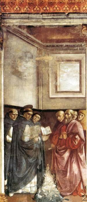 Domenico Ghirlandaio - St Dominic Burning Heretical Writings