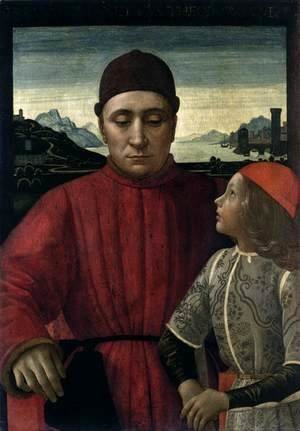 Domenico Ghirlandaio - Francesco Sassetti and His Son Teodoro II