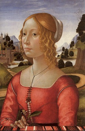 Domenico Ghirlandaio - Portrait of a Lady