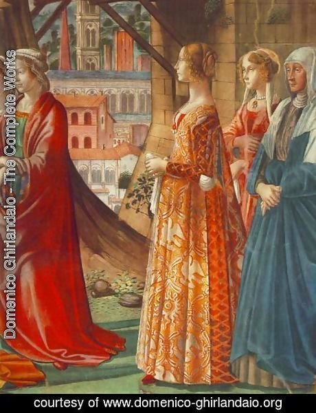 Domenico Ghirlandaio - Giovanna Tornabuoni and Her Accompaniment