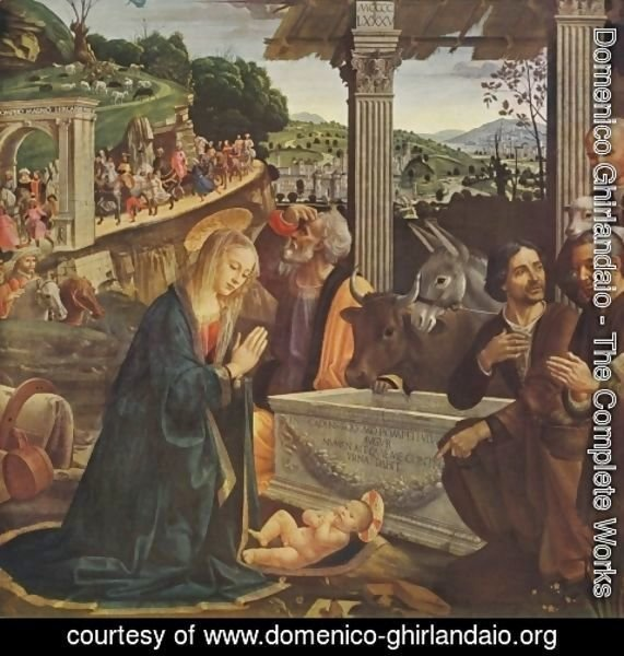 Domenico Ghirlandaio - Adoration of the Shepherds 1482-85