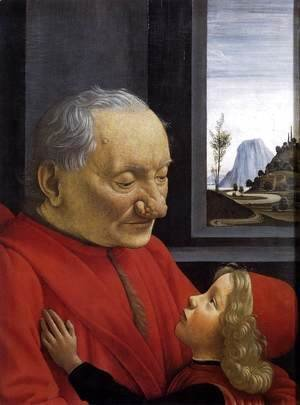 Domenico Ghirlandaio - An Old Man and His Grandson c. 1490