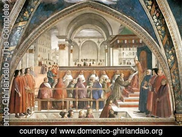 Domenico Ghirlandaio - Confirmation of the Rule 1482-85
