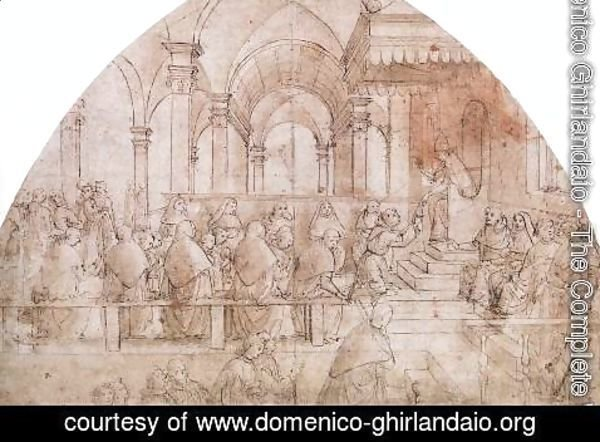 Domenico Ghirlandaio - Confirmation Of The Rule 1483