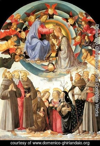 Domenico Ghirlandaio - Coronation of the Virgin 1486