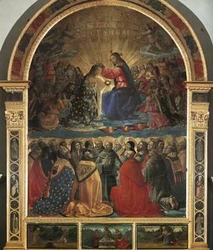 Domenico Ghirlandaio - Coronation of the Virgin 1486 2