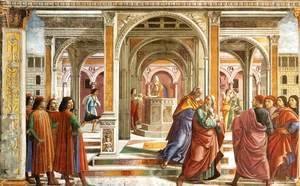 Domenico Ghirlandaio - Expulsion Of Joachim From The Temple