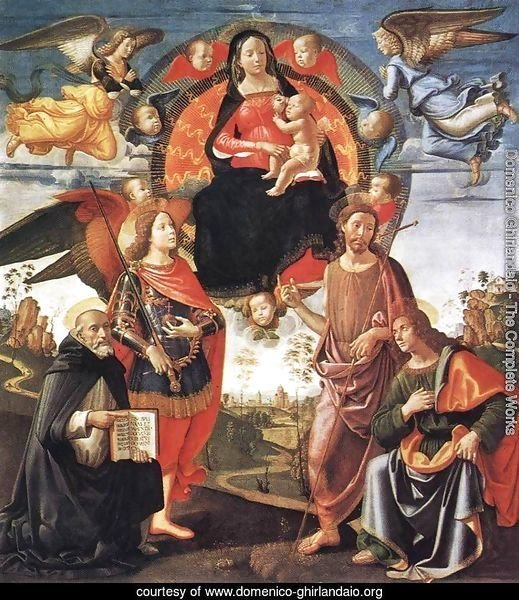 Madonna in Glory with Saints 1490-96