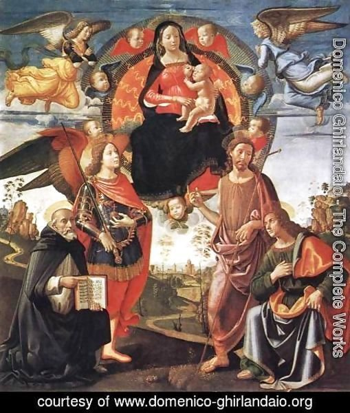 Domenico Ghirlandaio - Madonna in Glory with Saints 1490-96
