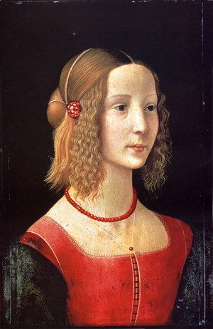 Domenico Ghirlandaio - Portait Of A Girl
