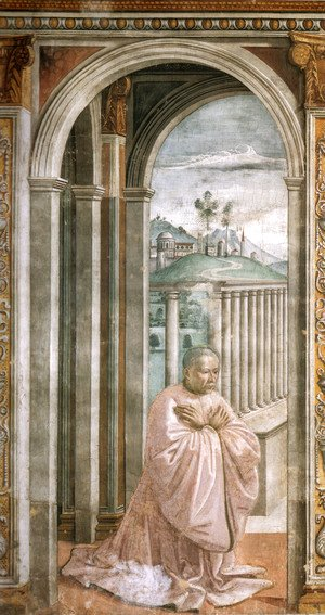 Domenico Ghirlandaio - Portrait Of The Donor Giovanni Tornabuoni