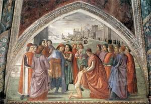 Domenico Ghirlandaio - Renunciation of Worldly Goods 1482-85