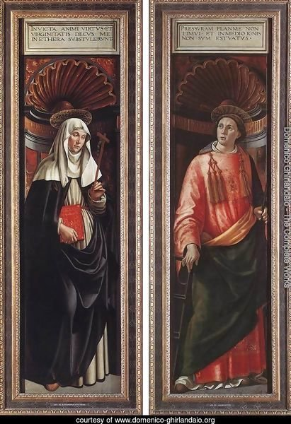 St Catherine of Siena and St Lawrence 1490-98