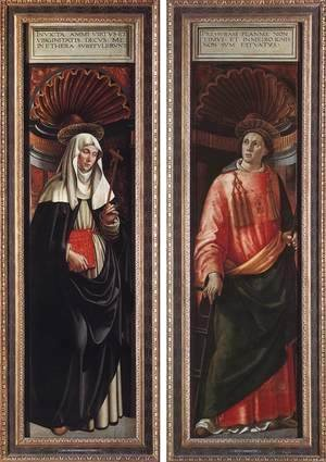 Domenico Ghirlandaio - St Catherine of Siena and St Lawrence 1490-98