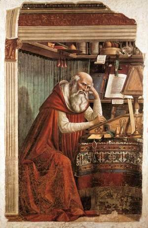 Domenico Ghirlandaio - St Jerome in his Study 1480