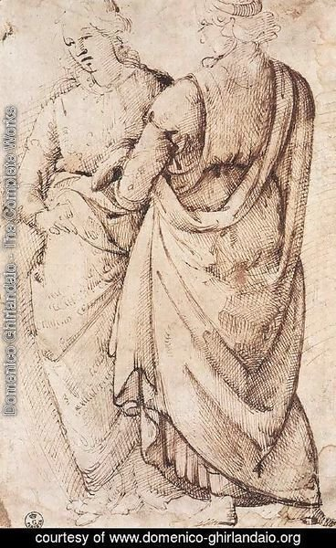 Domenico Ghirlandaio - Study Of Two Women 1486