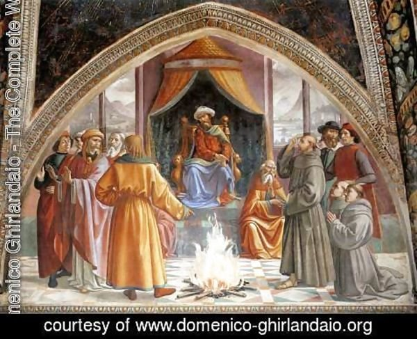 Domenico Ghirlandaio - Test of Fire before the Sultan 1482-85