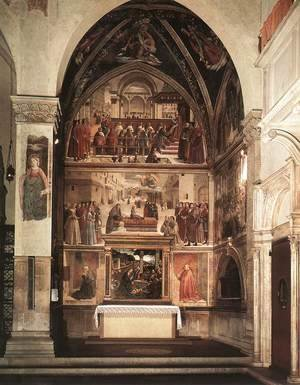 Domenico Ghirlandaio - View Of The Sassetti Chapel