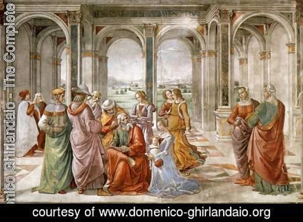 Domenico Ghirlandaio - Zacharias Writes Down The Name Of His Son