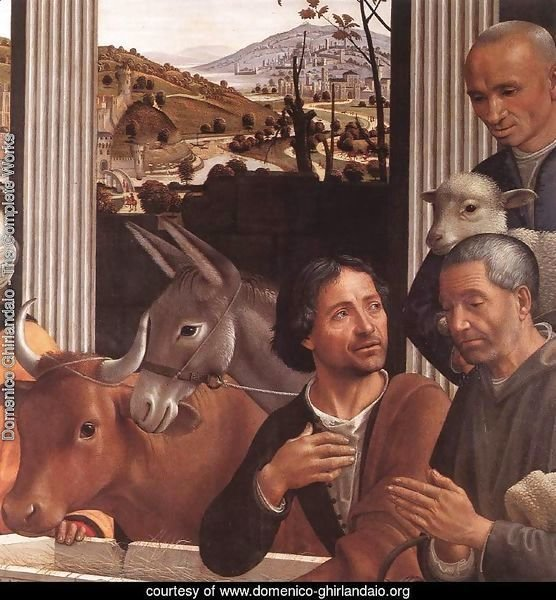 Adoration of the Shepherds (detail 1) 1482-85