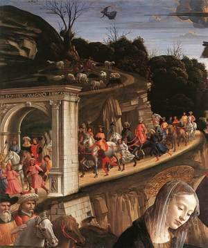 Domenico Ghirlandaio - Adoration of the Shepherds (detail 3) 1482-85