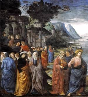 Domenico Ghirlandaio - Calling of the Apostles (detail 1) 1481